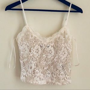 ZARA Lace with embroidery Cami Tank